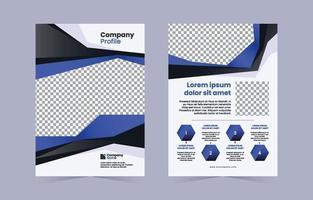 modernes schwarz-blaues Firmenprofil vektor
