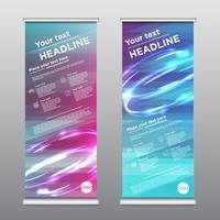 Färgglada rollup design flyer, vektor illustration