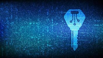 digitaler Schlüssel. elektronisches Schlüsselsymbol mit Binärcode. vektor