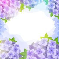 Blumenhygrangea Ornament Hintergrund vektor