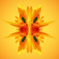 Orange och en grön pilar i rörelsevektor vektor