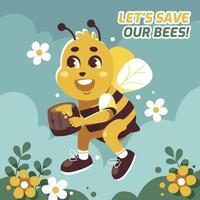 Aktivismus Honigbienenschutz vektor