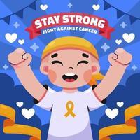 kleines Kind kämpft gegen Krebs vektor