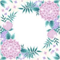 schöner floraler Hortensienhintergrund vektor