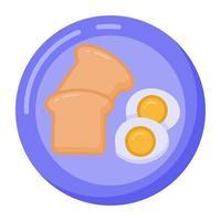 Frühstück und Essen vektor