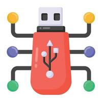 digitaler USB-Stick vektor