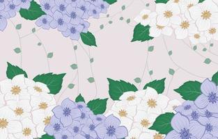 Blumenhortensie Hintergrund vektor