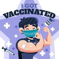 ich wurde geimpft um mich zu schützen vektor