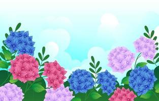 Hortensienblütenhintergrund vektor