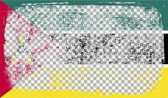 Grounge-angeredete Markierungsfahne, vektorabbildung