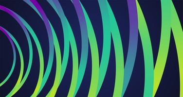 Bunte Neonkreishintergrund, Vektor