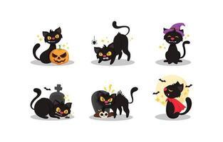 Cartoon-Figur der schwarzen Katze vektor