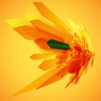 Orange och en grön pilar i rörelsevektor
