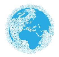 Weltkugel auf einem weißen Hintergrund, Vektorillustration vektor