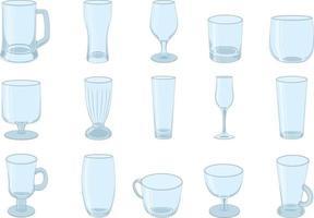 verschiedene Arten von Trinkgläsern Sammlung Vektor-Illustration vektor