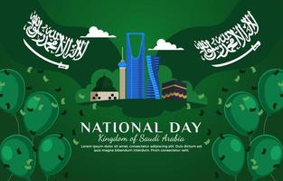 Karte zum saudischen Nationalfeiertag vektor
