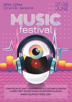 Musikfestivalplakat für Party-Fantasy-Stil vektor