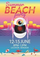 Musikfestival Fantasy-Stil Poster für Party vektor