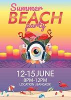 Musikfestivalplakat surreales Poster vektor