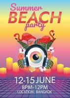 Surreales Plakat des Musikfestivals für Party vektor