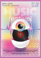 Musik Fantasy Festival Poster für Party vektor