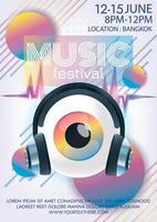 Musikfestivalplakat für surreale Kunstwerke der Party vektor