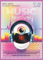 Musikfestivalplakat für Fantasy-Party vektor
