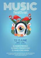 surreales Plakat Musikfestivalplakat für Party vektor