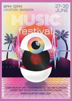 Musikfestival Fantasy Poster für Party vektor