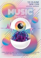 Musikfestivalplakat für surreale kunst der party vektor