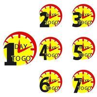 Anzahl der Tage bis zum Countdown vektor