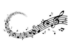 Modern musik noter vektor pack
