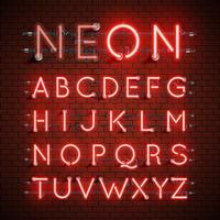 Hoch ausführlicher Neongusssatz, Vektorillustration vektor