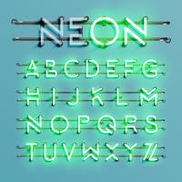 Realistischer Neonguß mit Drähten und Konsole, Vektorillustration