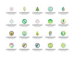 Sammlung schöner organischer Logo-Vorlagen vektor