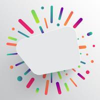 Saubere und farbenfrohe Vorlage für die Werbung mit blauen Pfeilen