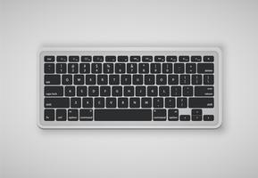 Buchstaben auf der Tastatur bilden ein Wort, Vektorillustration vektor