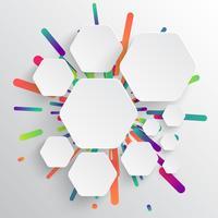 Färgrik tom mall för reklam, vektor illustration