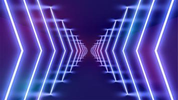 Hoch-ausführlicher Neonlichthintergrund, Vektorillustration vektor