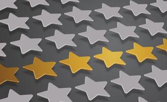 3D stjärnor eller bakgrund, vektor illustration