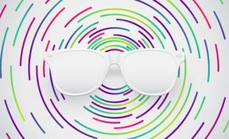 Weiße Mattsonnenbrille für advertng, Vektorillustration