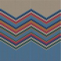 Zigzag färgglada stickade mönster för bakgrund, vektor illustration