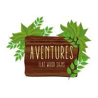 Abenteuer Holz Signal vektor
