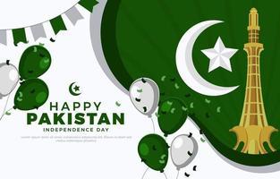 pakistan unabhängigkeitstag hintergrundvorlage pa vektor