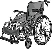 Schwarz-Weiß-Rollstuhl-Vektor-Illustrationsskizze vektor