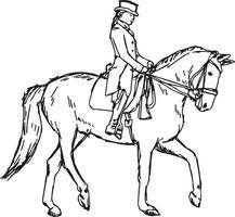 Reiterpferd - Vektor-Illustration Skizze handgezeichnete vektor