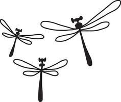 drei Libelle - Vektor-Illustration Skizze handgezeichnete vektor