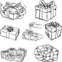 Hand, die ein Geschenk oder ein Geschenk hält oder anbietet - Vektorillustration vektor