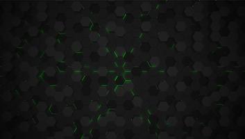 Grüner Technologiehintergrund des Hexagons 3D, Vektorillustration vektor