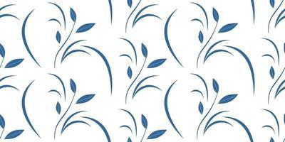 Zweig elegante Pflanze nahtlose Muster vektor